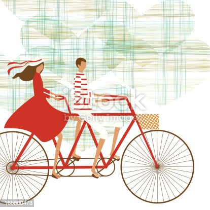 istock Cycling couple background 165800473