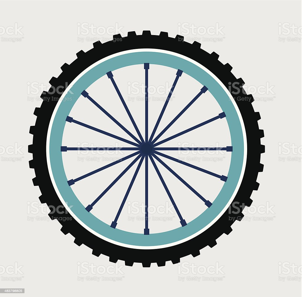 cycling design vector art illustration