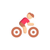 Cycling Flat Icon. Pixel Perfect. For Mobile and Web.