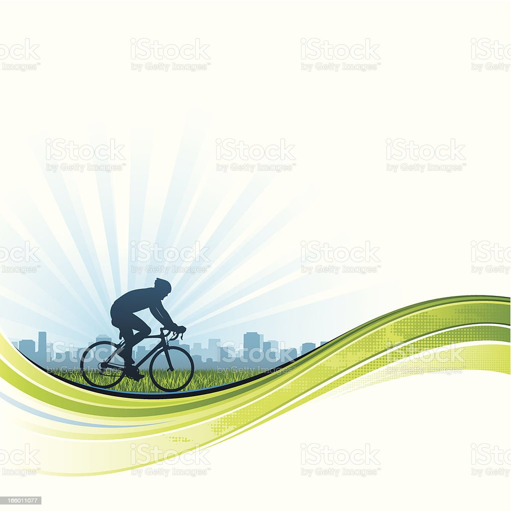 Cycling flow background vector art illustration