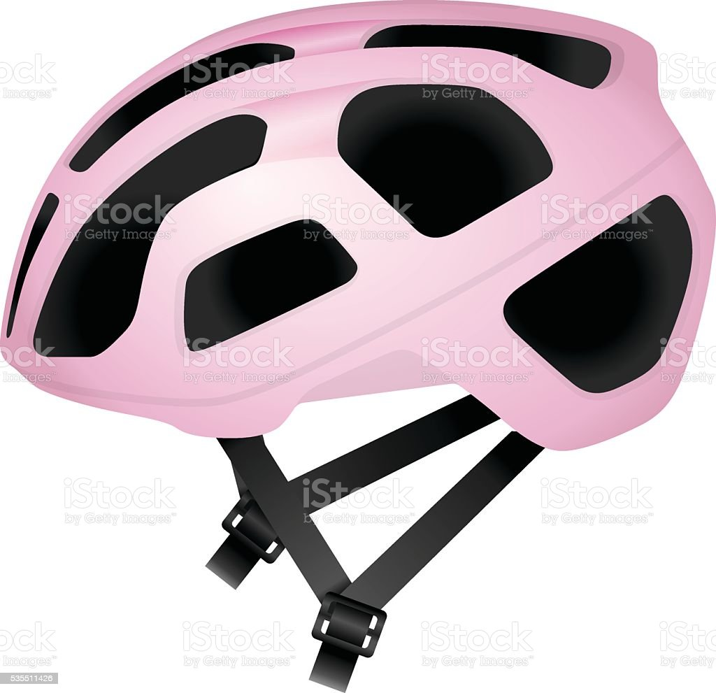 Cycling helmet vector art illustration