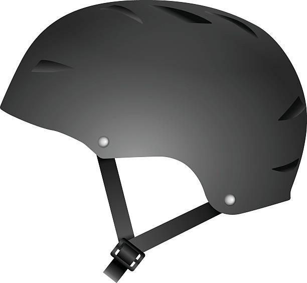 Cycling helmet vector art illustration