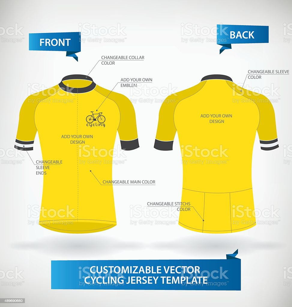 Cycling Jersey vector art illustration