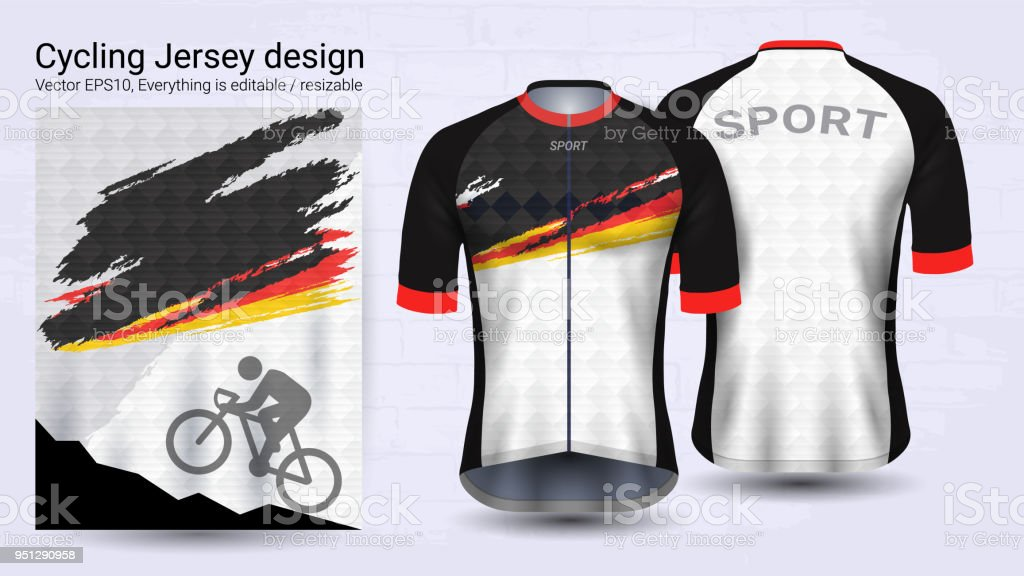 Cycling Jerseys Short Sleeve Sport Mockup Template Graphic Design ... eccd787e9