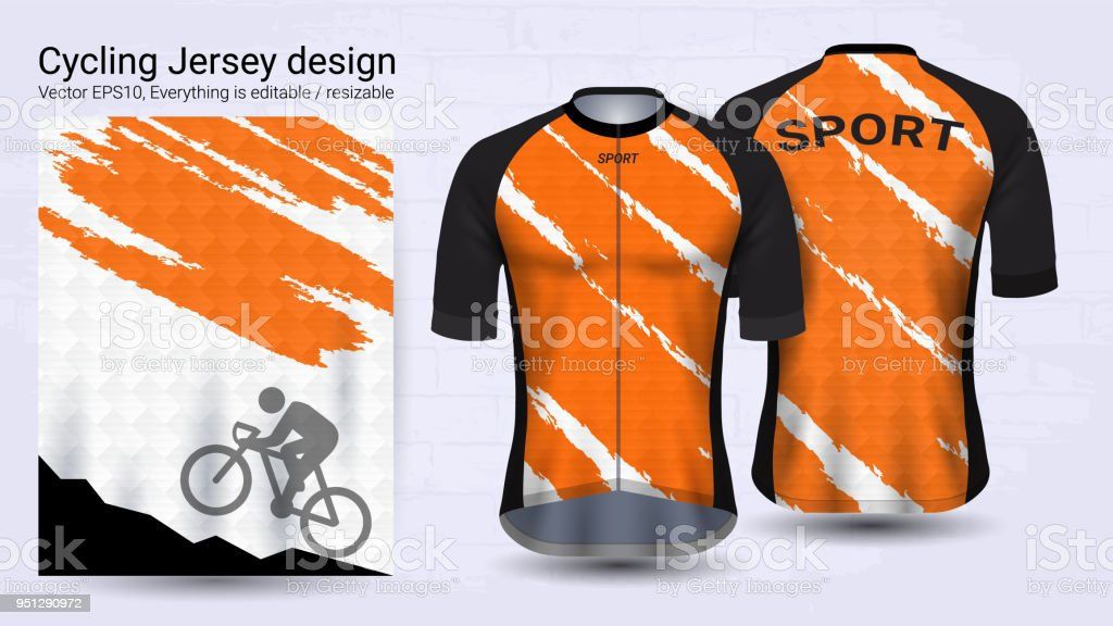 cycling jerseys short sleeve sport mockup template graphic design