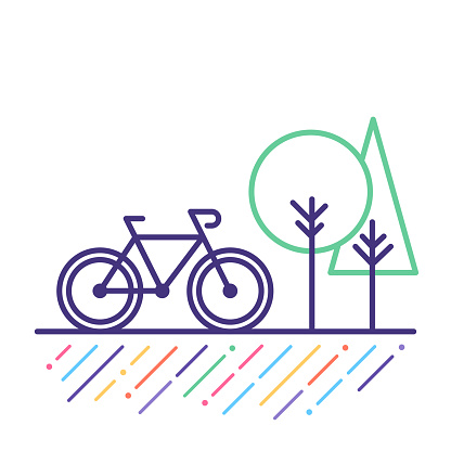 Cycling Line Icon Stock Illustration - Download Image Now