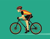 Cycling man cartoon