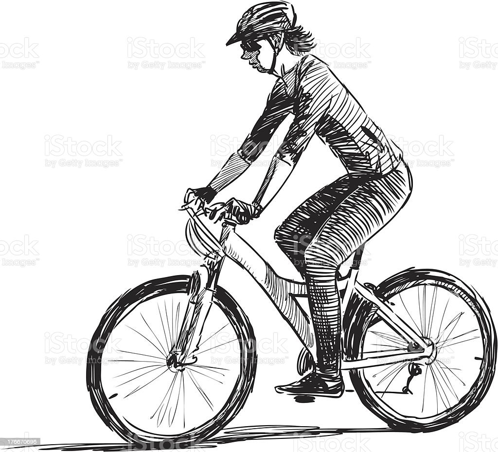 cycling man royalty-free cycling man stock vector art & more images of activity