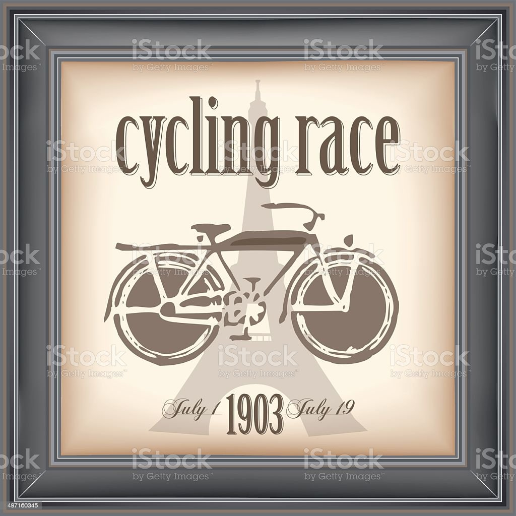 cycling race royalty-free stock vector art