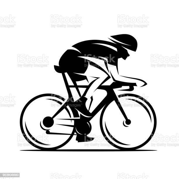 Cycling Race Vector Illustration Cycle Sport Identity - Arte vetorial de stock e mais imagens de Bicicleta