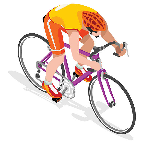 royalty free road cycling clip art vector images