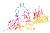 Cycling Tourist Rainbow