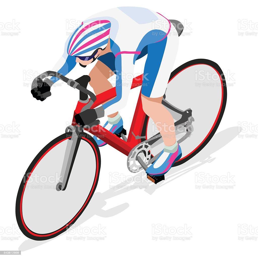 Cycling Track  Sports 3D Isometric Vector Illustration vector art illustration