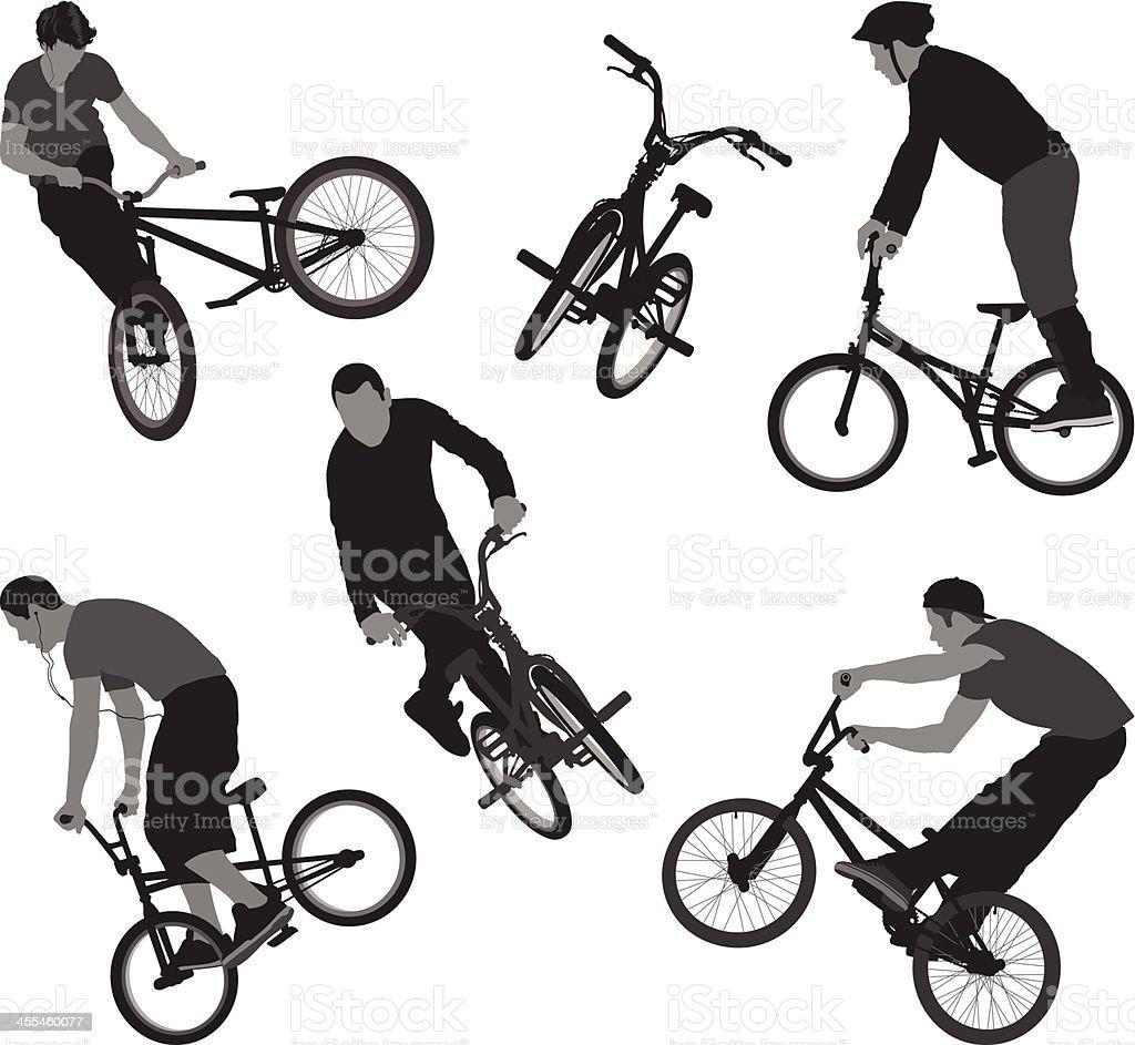 BMX Cycling vector art illustration