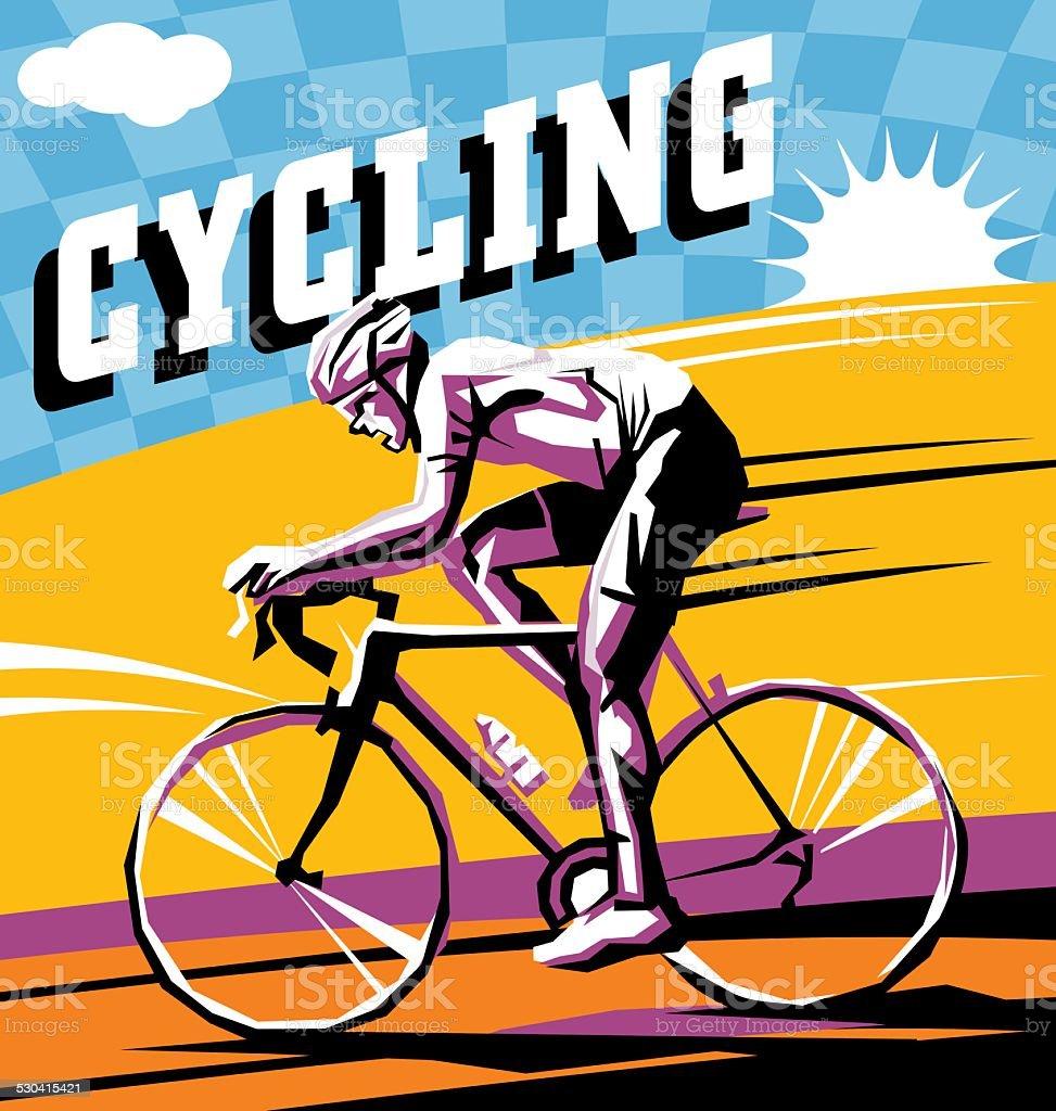cycling vector art illustration