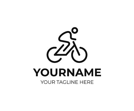 Cyclist design. Bicycle line art vector design. Bike cyclist design