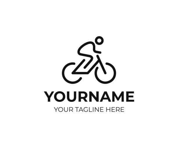 ilustraciones, imágenes clip art, dibujos animados e iconos de stock de diseño ciclista. diseño vectorial de líneas de arte para bicicletas. diseño bicicleta ciclista - andar en bicicleta