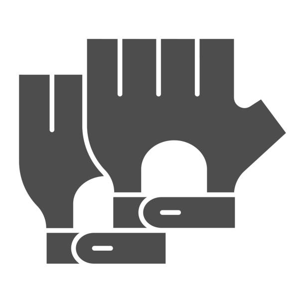 Cyclist gloves solid icon, bicycle accessories concept, Fitness gloves sign on white background, Glove for biker icon in glyph style for mobile concept and web design. Vector graphics. Cyclist gloves solid icon, bicycle accessories concept, Fitness gloves sign on white background, Glove for biker icon in glyph style for mobile concept and web design. Vector graphics human finger stock illustrations