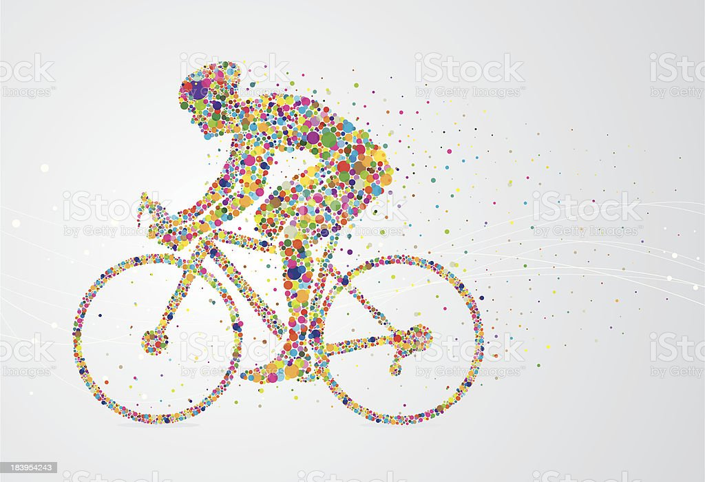 Cyclist pixel man royalty-free stock vector art