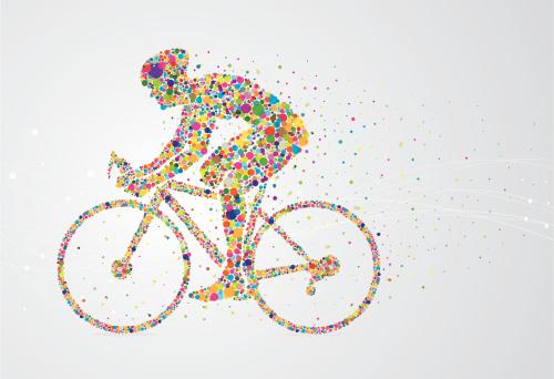 Cyclist pixel man