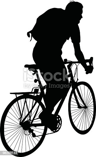 Cyclist To Use In Your Design Stock Vector Art & More Images of Adult 98209144