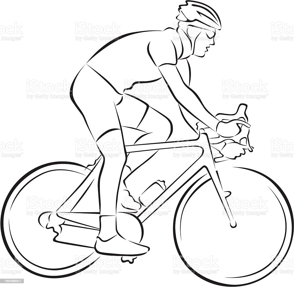 cyclist vector art illustration