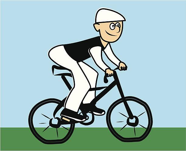 radfahrer - lustige fahrrad stock-grafiken, -clipart, -cartoons und -symbole