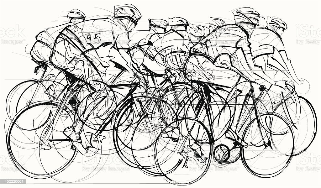 cyclists in competition royalty-free cyclists in competition stock vector art & more images of activity