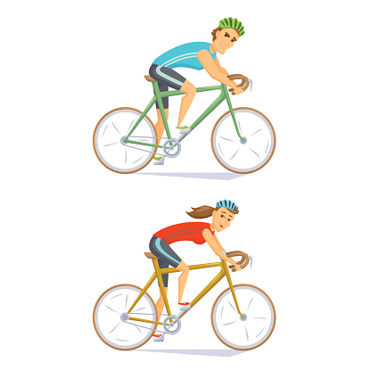 Cyclists on road bikes