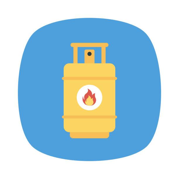 Zylinder-Gas-Feuerstellen – Vektorgrafik