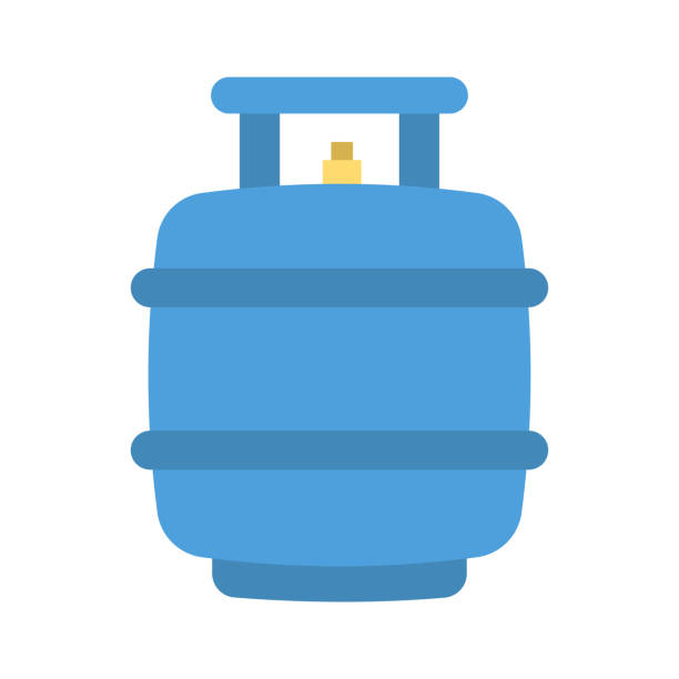 Zylinder Gas Brennstoff – Vektorgrafik