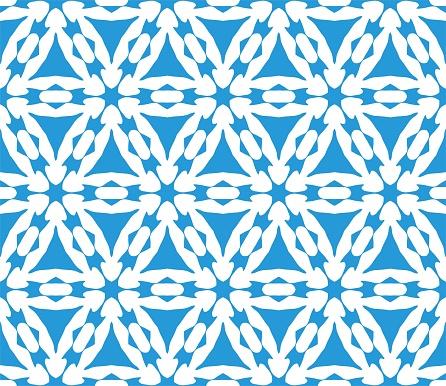 Vetores de Cymatify Repetição Azulejo De Padrão Geométrico e mais imagens de Abstrato