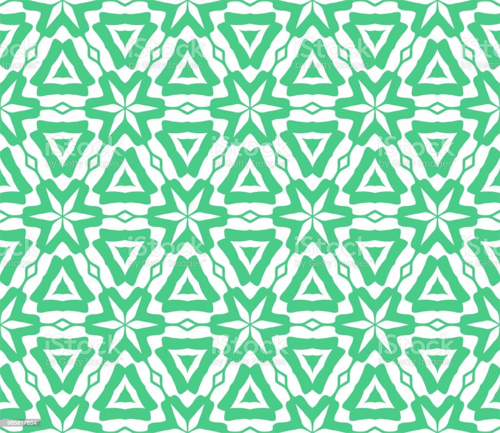 Cymatify Geometric Repeating Tile Pattern - Royalty-free Abstract stock vector