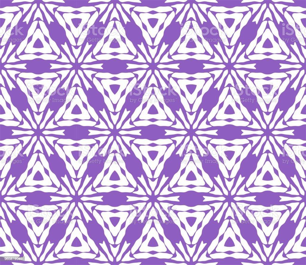 Cymatify geometrische herhalende tegel patroon - Royalty-free Abstract vectorkunst