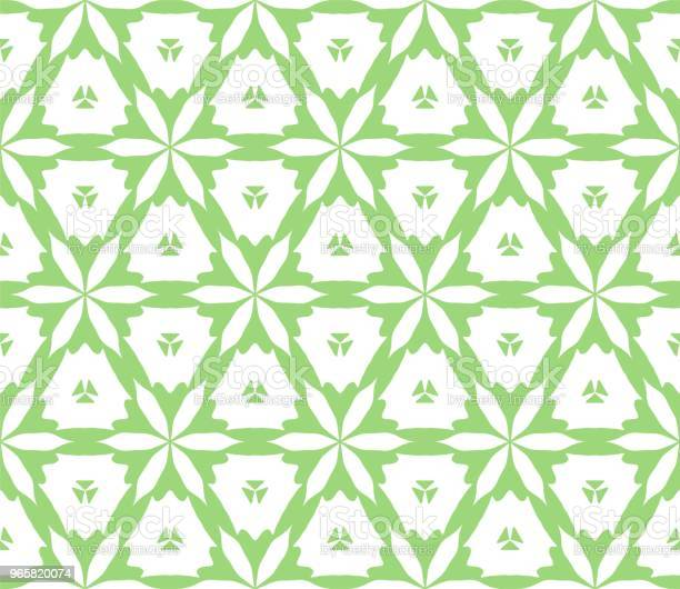 Cymatify Geometric Repeating Tile Pattern Stock Illustration - Download Image Now