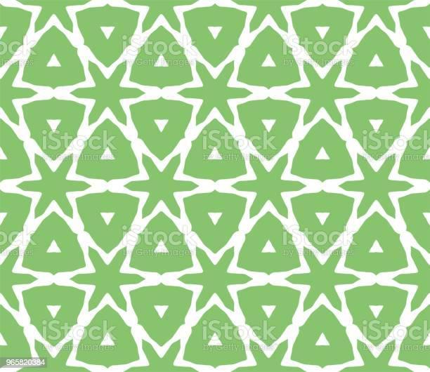 Cymatify Geometrische Herhalende Tegel Patroon Stockvectorkunst en meer beelden van Abstract