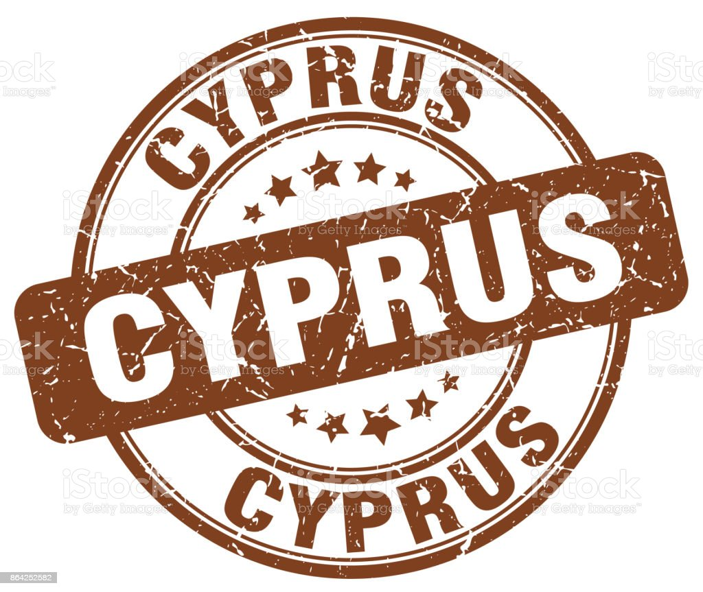 Cyprus brown grunge round vintage rubber stamp royalty-free cyprus brown grunge round vintage rubber stamp stock vector art & more images of badge