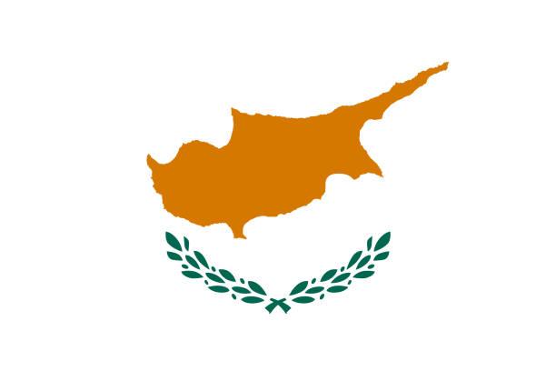 zypern-flagge - paphos stock-grafiken, -clipart, -cartoons und -symbole