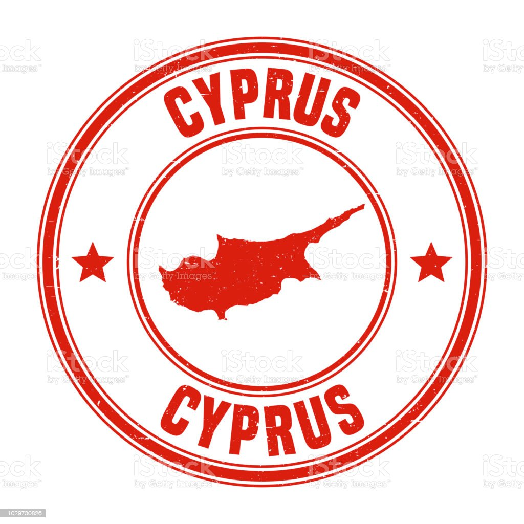Cyprus Red Grunge Rubber Stamp With Name And Map Stock Vector Art ...