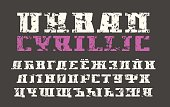 Cyrillic serif font in urban style