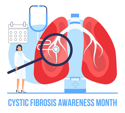 Cystic fibrosis awareness month concept vector. Medical event