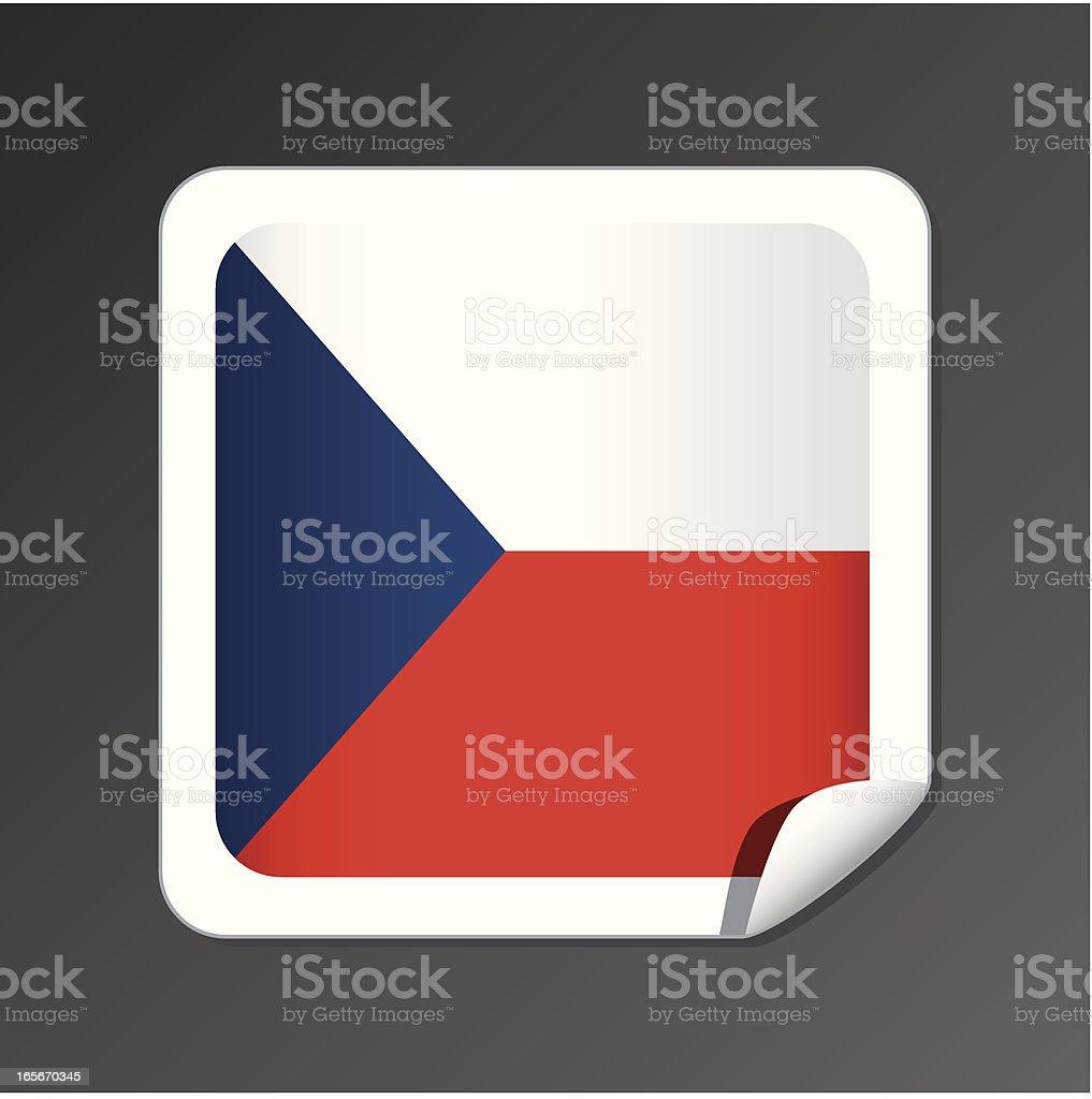 Czech flag button royalty-free stock vector art