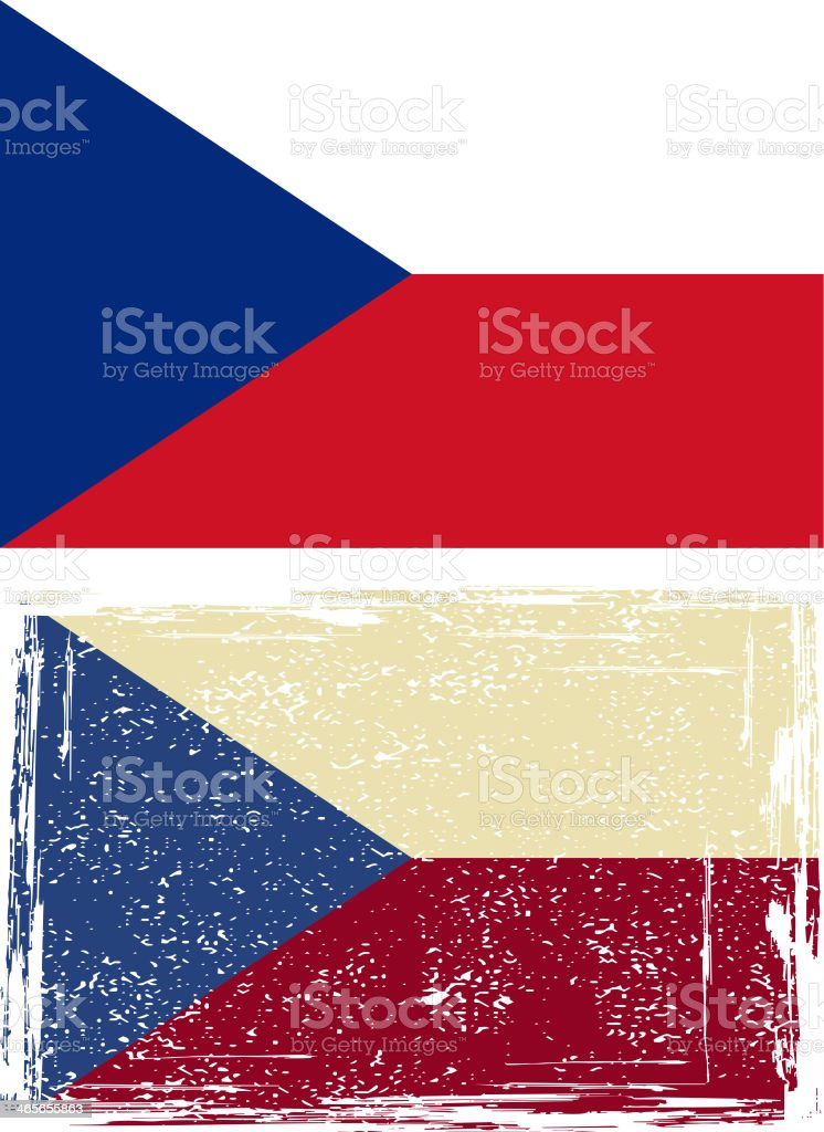 Czech grunge flag. royalty-free stock vector art