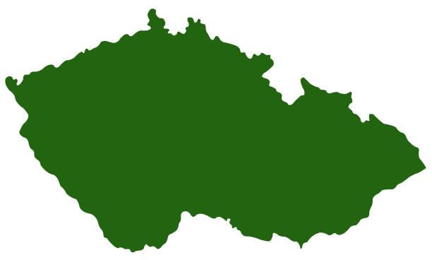 헝가리식 맵 - 체코 stock illustrations