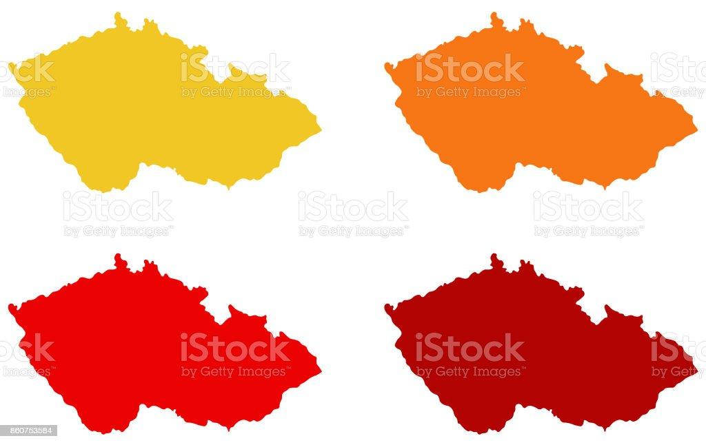 Prag Karte Europa.Tschechien Karten Stock Vektor Art Und Mehr Bilder Von Europa