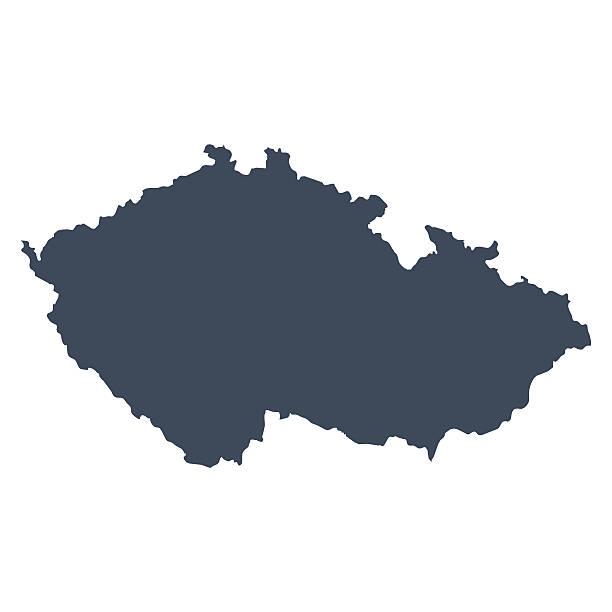 republika czeska kraju mapy - republika czeska stock illustrations