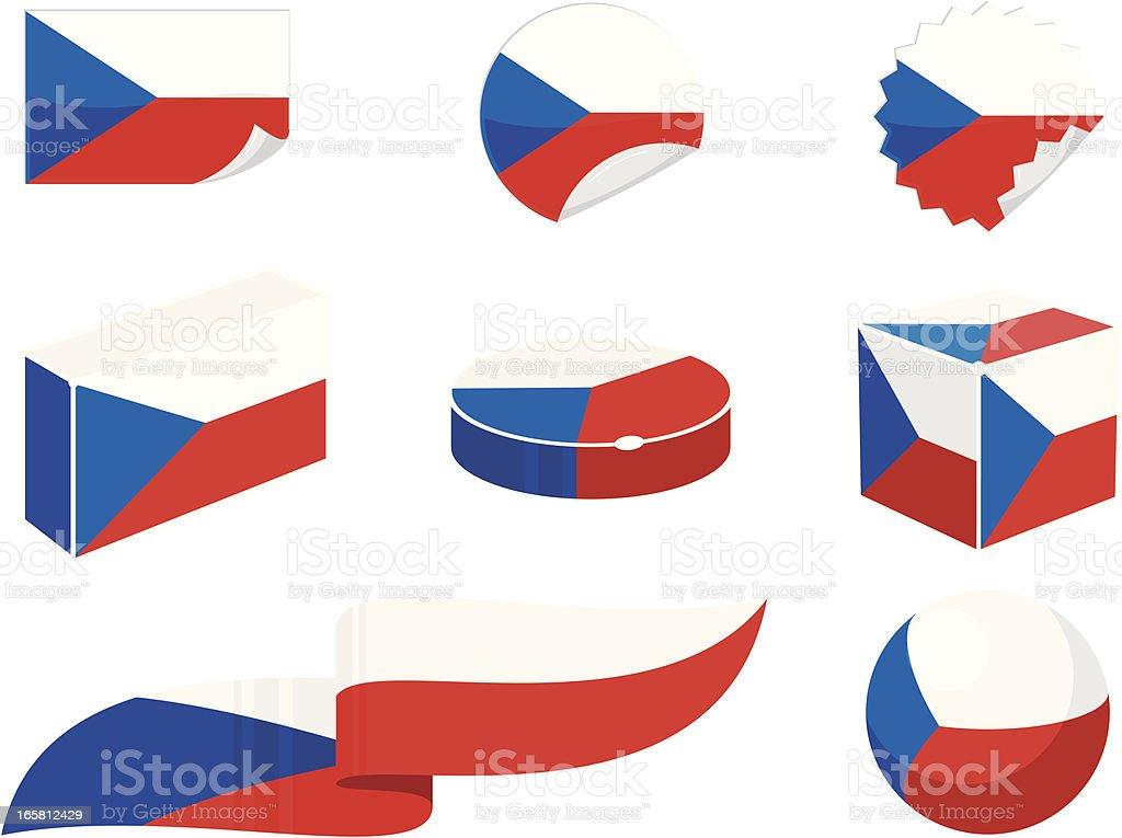 Czech Republic Design Elements vector art illustration