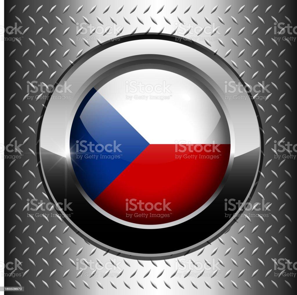 Czech Republic flag button royalty-free stock vector art