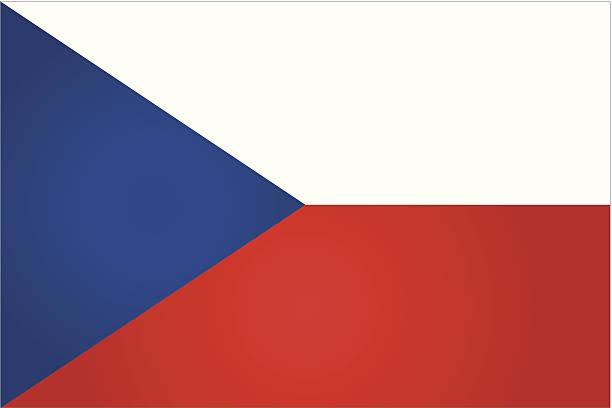 flaga czech - republika czeska stock illustrations