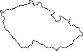 Czech Republic map of black contour curves of vector illustration